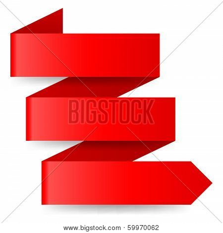 Red paper arrow