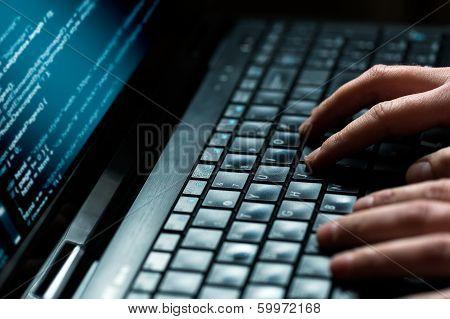 Computer Crime Concept