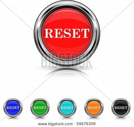 Reset Icon - Six Colors Vector Set
