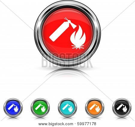 Fire Icon - Six Colors Vector Set