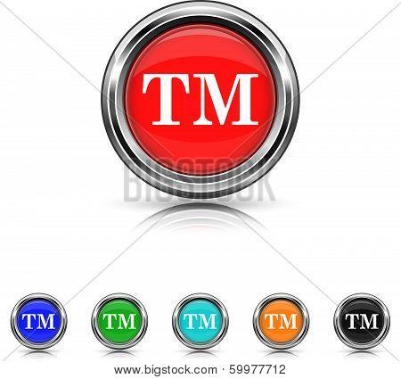 Trade Mark Icon - Six Colors Vector Set