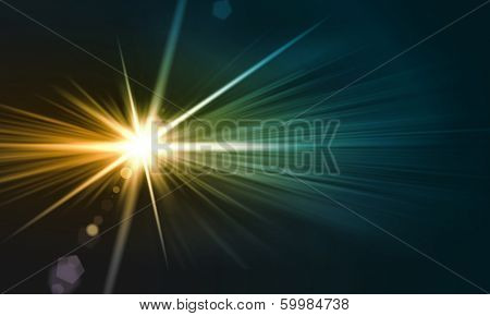 Background image with light beams and rays