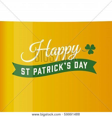 Saint patricks card, vector beer background