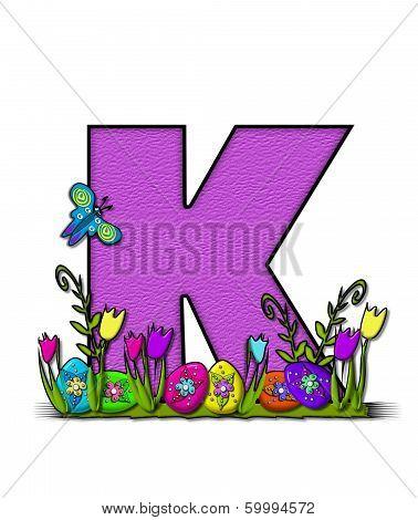 Alphabet Easter Egg Garden K