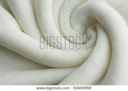 Soft White Blanket Swirl Background