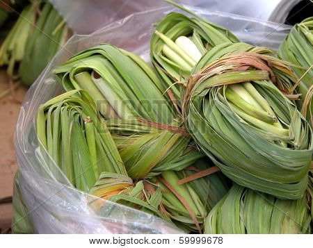 Green leaves for corn tamales