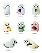 stock photo of funny ghost  - Cute Ghosts Collection - JPG