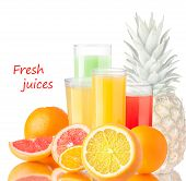 Fresh Juices With Fruits