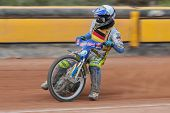 EGGENDORF,  AUSTRIA - APRIL 28 Ronny Weis (#10 Germany) places 2nd in the Austrian speedway champion