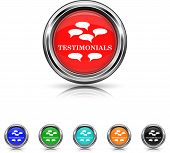 Testimonials Icon - Six Colors Vector Set