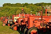Row of Case Tractors