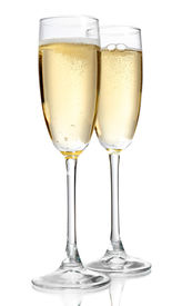 stock photo of champagne color  - Glasses of champagne - JPG