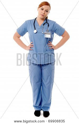 Female Physician Posing Casually
