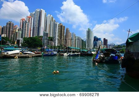 View Of The Aberdeen, Hong Kong.