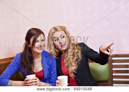 Two Young Pretty Caucasian Girls