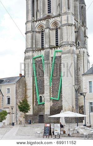 Saint Aubin Tower - The Bell Towert In Angers