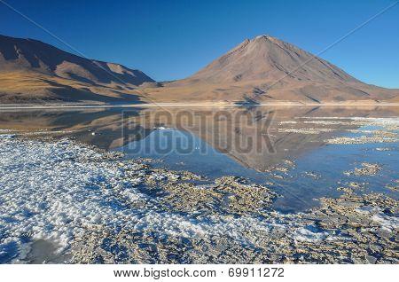 Volcan Licancabur With Gorgeous Landscapes Of Sur Lipez, South Bolivia