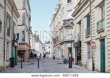 Rue Saint Martin Street In Angers, France