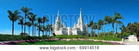 San Diego Mormon Temple at La Jolla, CA