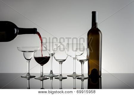 Pouring Red Wine.