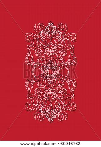 Oriental floral background design. Sry Lanka