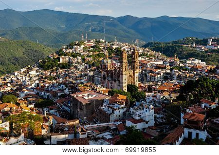 View Over Colonial City Of Taxco, Guerreros, Mexico