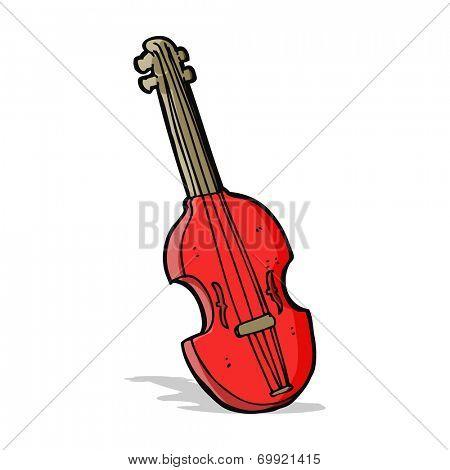 cartoon violin