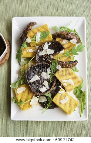 Balsamic Portobellos And Grilled Polenta