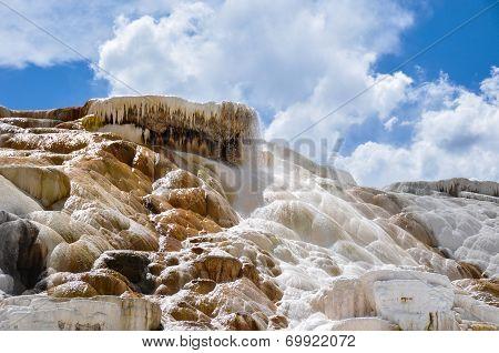 Mammoth Terraces, Yellowstone National Park, Wyoming, Usa