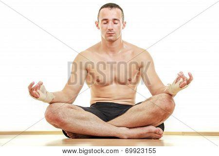 Martial Art Master Sportsman Meditation Portrait