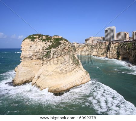 Pigeon Rocks, unusual view (Beirut- Lebanon)