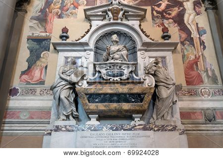 Galileo Galilei's Tomb In The Basilica Of Santa Croce, Florence
