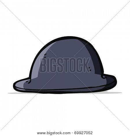 cartoon bowler hat