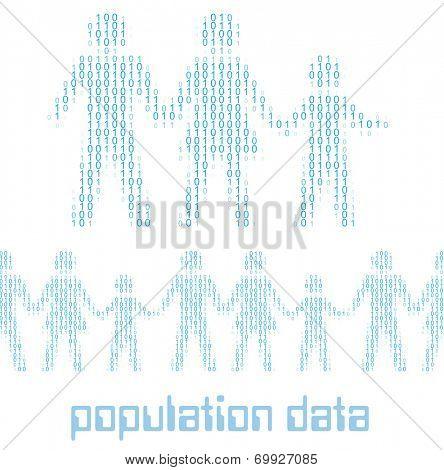 Family people as digital 1 0 data population statistics to tile horizontally