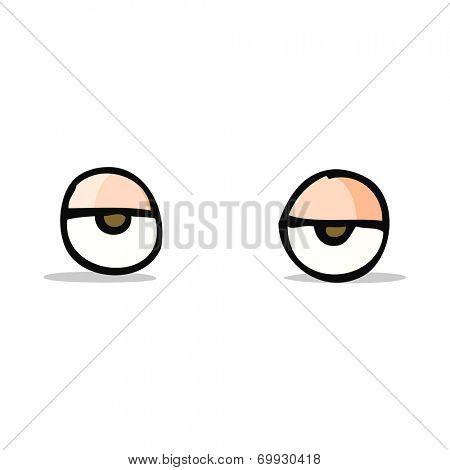 cartoon bored eyes