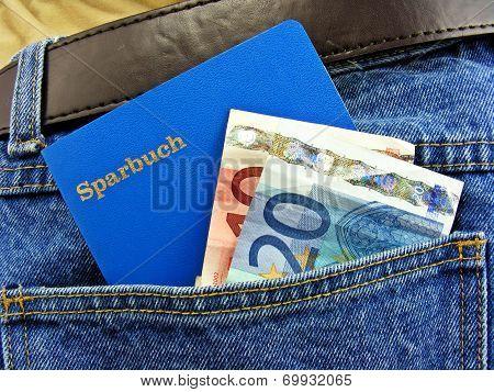 German savings book in pocket