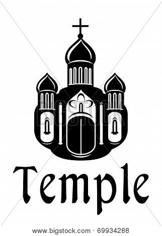 Religious temple or church icon