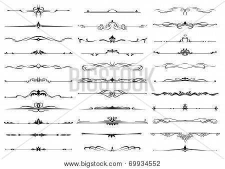 Borders and dividers decorative ornate elements