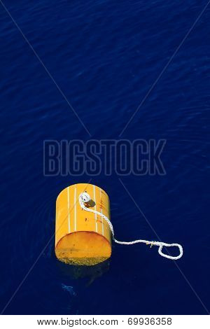 warning buoy off the coast of Maine against a foggy background, Buoy on the sea for support supply b