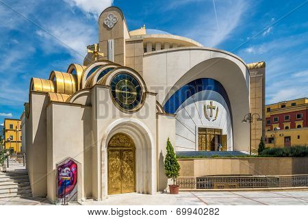 Resurrection Of Christ Orthodox Cathedral In Tirana.