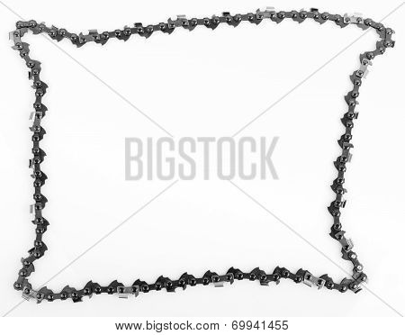 metal chain saw pattern background