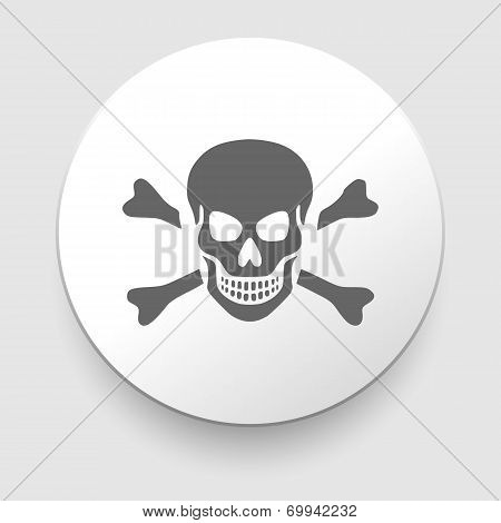 Skull and crossbones - a mark of the danger