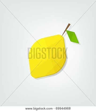 flat lemon icon