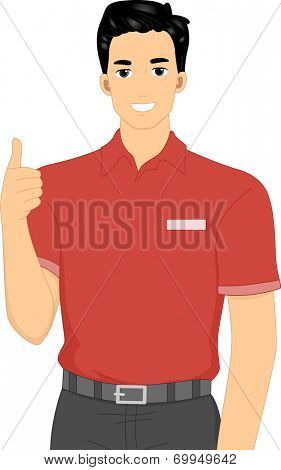 Illustration Featuring a Member of a Camp Staff Giving a Thumbs Up