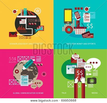 Flat Style UI Icons to use for your business project, infographics, marketing promotion, mobile advertising,seo, research and analytics.