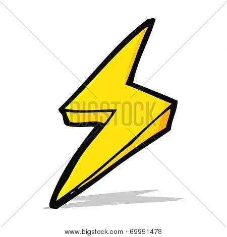 cartoon thunderbolt