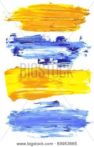 Colorful brush strokes of oil paint