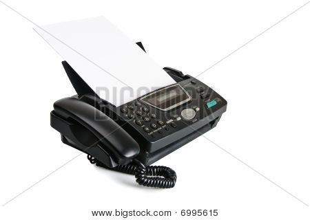 Fax Machine With Document