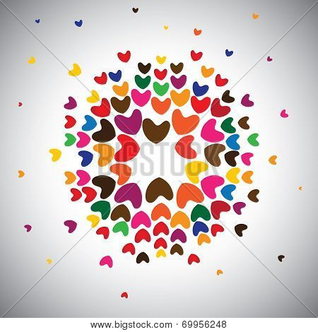 Heart Or Love Icons For Poster Or Banner - Concept Vector.