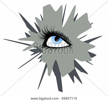 Abstract Female Eye